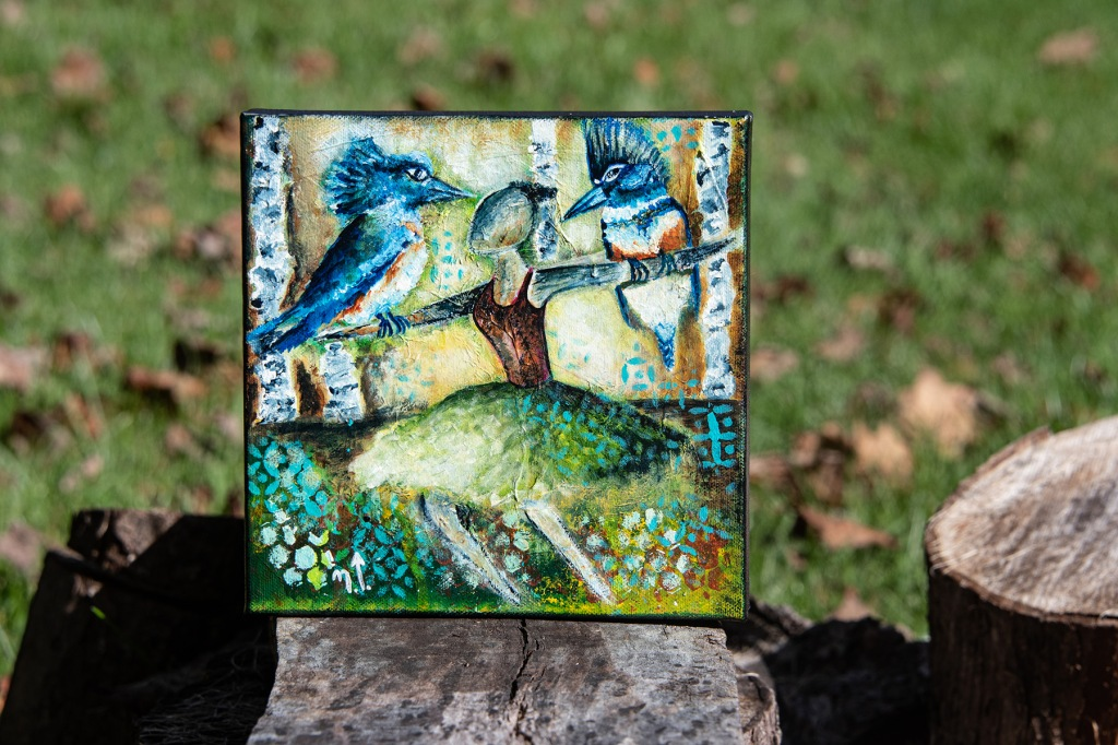 "Kingfisher Spirit 8"" x 8"""
